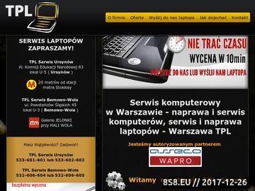 Zrzut strony Naprawa popsutych laptopów