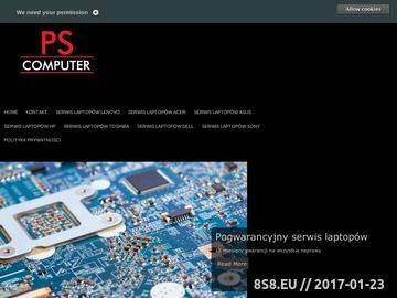 Zrzut strony Pogwarancyjny serwis laptopów
