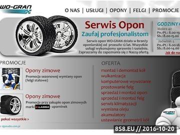 Zrzut strony Serwis opon WO-GRAN - sprzedaż opon