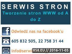 Miniaturka domeny www.serwisstron.pl