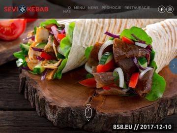 Zrzut strony Kebab SEVI na dowóz