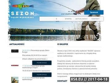 Zrzut strony Sezon - sklep wędkarski Olsztyn