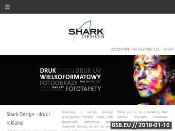 Zrzut strony Shark Design - Drukarnia Wielkoformatowa w Warszawie, Banery, roll upy
