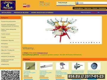 Zrzut strony Maszyny i akcesoria do sitodruku