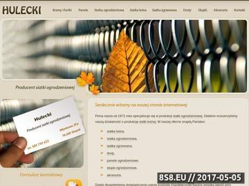 Zrzut strony Hulecki producent siatki leśnej