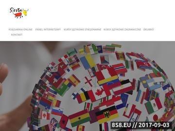 Zrzut strony Siesta - kursy językowe