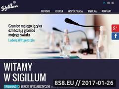 Miniaturka domeny www.sigillum.com.pl