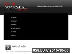 Miniaturka domeny www.sigma-house.pl