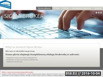 Zrzut strony Broker ubezpieczeniowy: Sigma Broker pośrednik ubezpieczeniowy z doświadczeniem