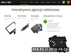 Miniaturka Grafika reklamowa oraz pozycjonowanie stron internet (sigmeo.pl)