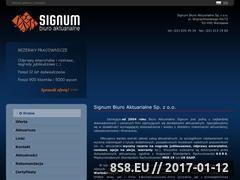Miniaturka domeny www.signumbiuro.pl