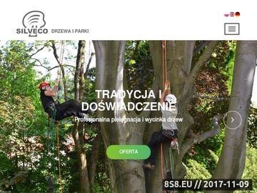 Zrzut strony Silveco.pl wycinka pielęgnacja drzew zagospodarowanie terenów zieleni