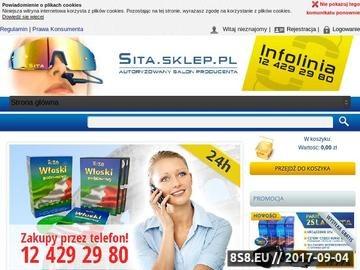 Zrzut strony SITA - kursy językowe