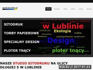 Zrzut strony Nadruki na różne materiały reklamowe
