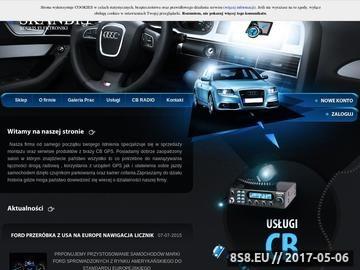Zrzut strony SKANBIS serwis GPS