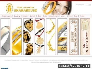 Zrzut strony Firma jubilerska Skarabeusz - brylanty