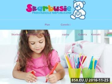 Zrzut strony Placówka oświatowa dla dzieci SKARBUSIE