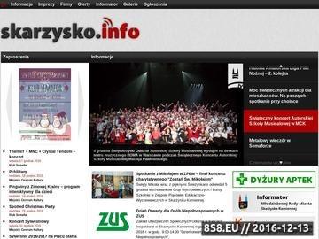 Zrzut strony Portal miasta Skarżysko-Kamienna