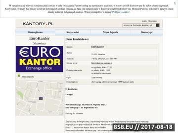 Zrzut strony Eurokantor