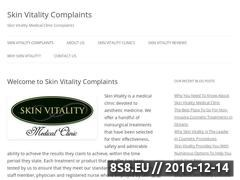 Skin Vitality Complaints Website