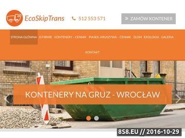 Zrzut strony Kontenery i kruszywa we Wrocławiu