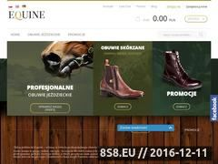 Miniaturka domeny www.sklep-equine.pl