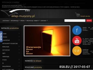 Zrzut strony Sklep muzyczny Krys - instrumenty perkusyjne