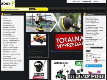 Zrzut strony Abexil - maszyny czyszczące i ogrodnicze, doradztwo-sprzedaż-serwis