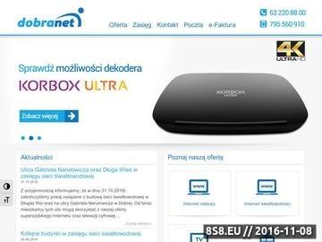 Zrzut strony Sklep komputerowy - sklep.dobranet.pl - sprzęt komputerowy, tusze, tonery