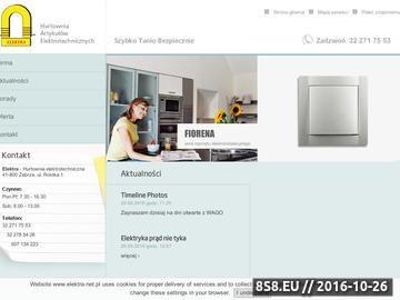Zrzut strony Artykuły elektrotechniczne