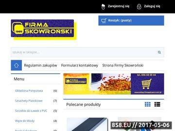 Zrzut strony Firma Skowroński. Sklep z Poręczówką i sztachetami plastikowymi