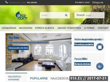 Zrzut strony Sklep internetowy oferujący nawilżacze powietrza Venta