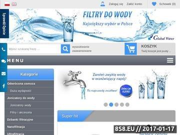 Zrzut strony Jonizatory do wody - Global Water