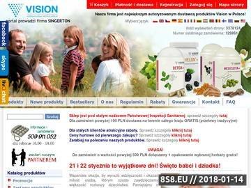 Zrzut strony Sklep Vision - suplementy diety, preparaty ziołowe