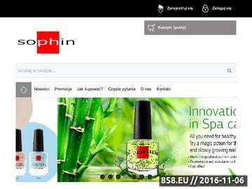 Zrzut strony Sophin Polska