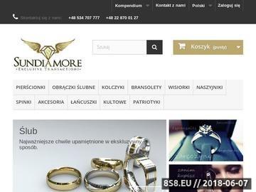 Zrzut strony Obrączki ślubne z białego złota