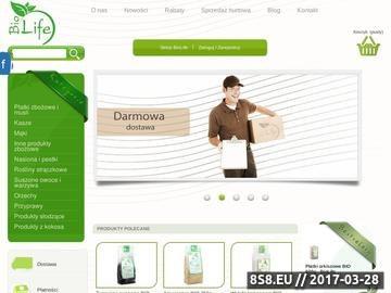 Zrzut strony Sklepbiolife.pl - zdrowa żywność