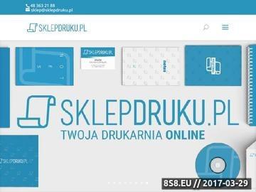 Zrzut strony Druk online, druk cyfrowy oraz druk wielkoformatowy i litery 3d