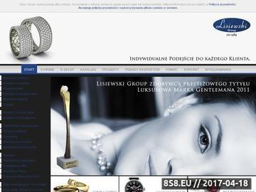Zrzut strony Internetowy sklep jubilerski