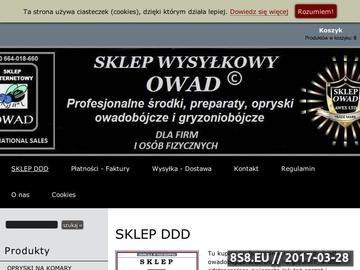 Zrzut strony Sklep Ogrodniczy Owad - środki owadobójcze, quickphos, phostoxin