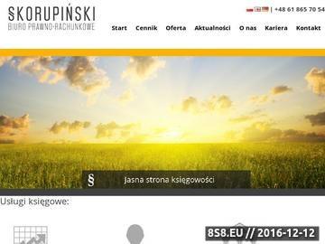 Zrzut strony Usługi z zakresu prowadzenia księgowości dla firm, biuro księgowe Poznań