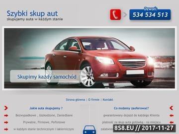 Zrzut strony Skupuje auta powypadkowe za gotówkę