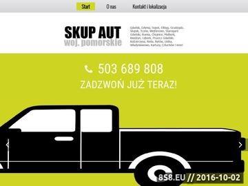 Zrzut strony Skup aut Gdańsk, Trójmiasto, Gdynia i Pruszcz Gdański