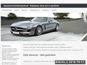 Zrzut strony Skup samochodów Opole