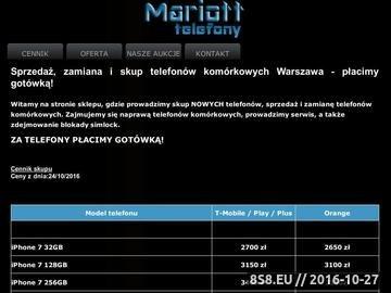 Zrzut strony Hit GSM: skup telefonów komórkowych Warszawa