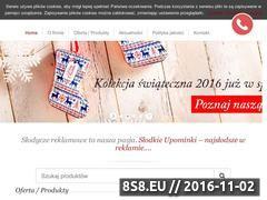Miniaturka domeny www.slodkieupominki.pl
