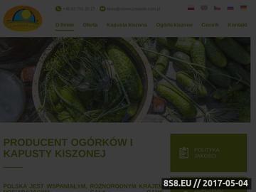 Zrzut strony Producent ogórków kwaszonych - Karol Bultrowicz
