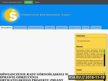 Zrzut strony Stowarzyszenie Osób Narodowości Śląskiej