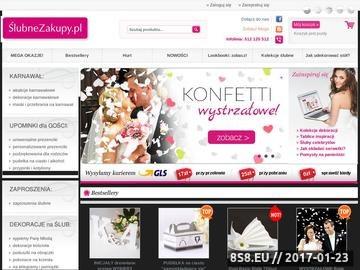 Zrzut strony Sklep slubnezakupy.pl