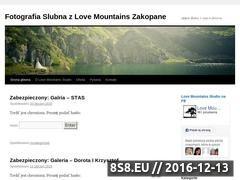 Miniaturka domeny slubzakopane.wordpress.com